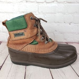 LL Bean Vintage Leather Hikers Womens 8 Shoes